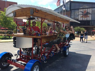 The BarCycle is a 14-passenger quadricycle that is built to party.
